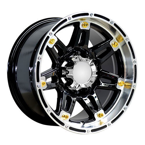 Big Golden Rivets Alloy Wheels