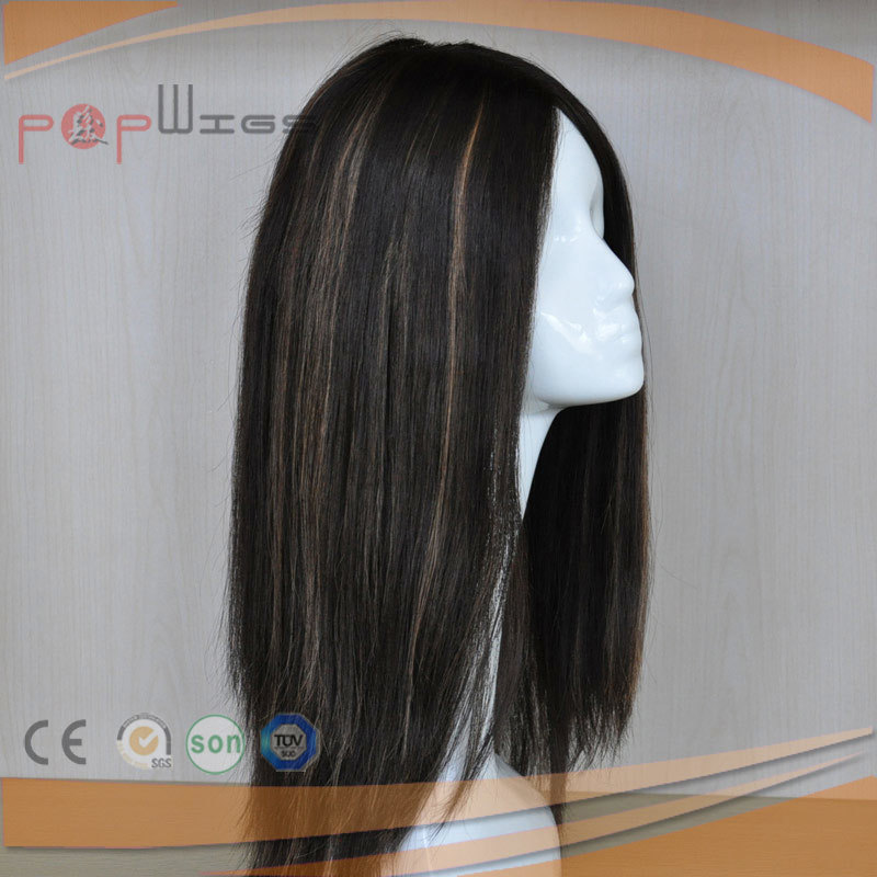 Full Lace Silicone Silk Top Long Human Hair Wig