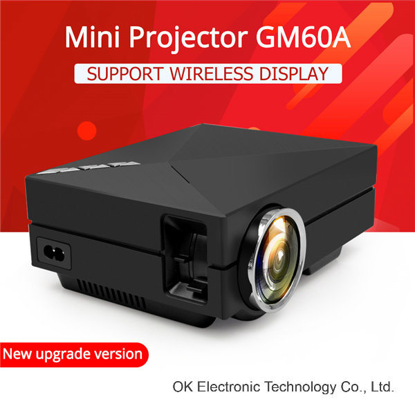 New GM60 Portable HD LED Projector Home Cinema Theater Support 1920 X 1080 Video Home Digital Projector
