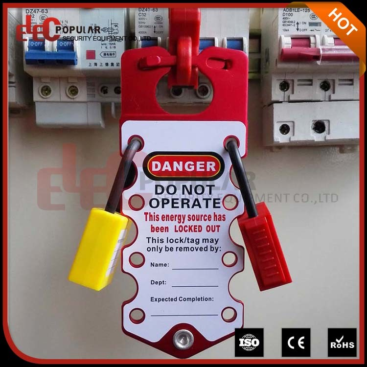 OEM Aluminum Safety Lockout Hasp with Tag