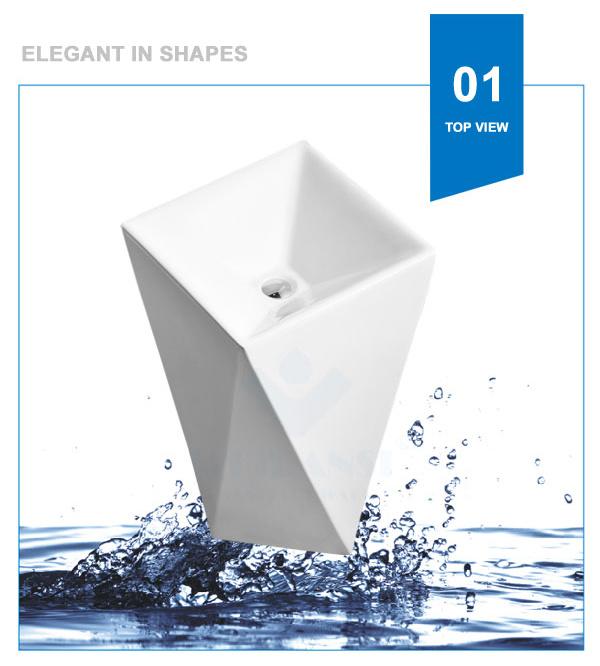 Weidansi Ceramic Wash Pedestal Basin Wash Sink (WDS-P7101)