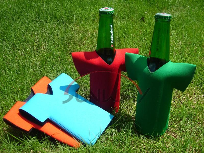 Promotional T-Shirt Beer Bottle Cooler, Neoprene Bottle Koozie, Bottle Sleeve (BC0047)