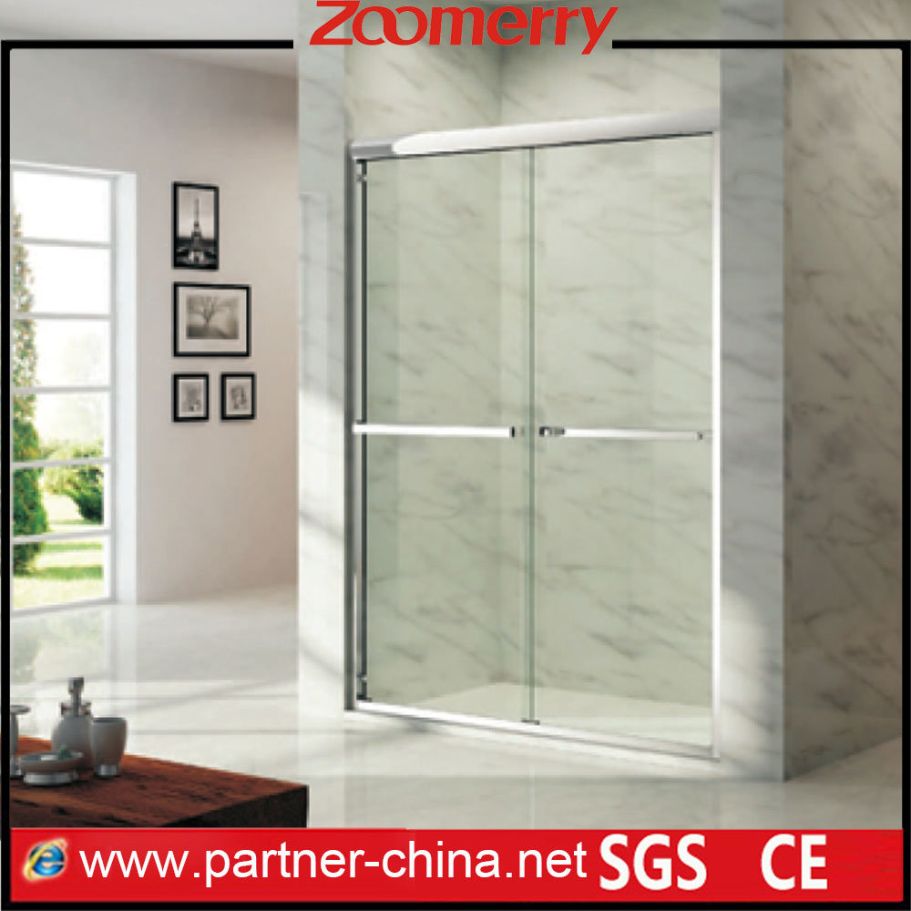 Project Linear Frame Tempered Glass Bypass Sliding Shower Door (NM6122)