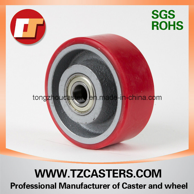 PU Wheel with Cast Iron Center 125*50