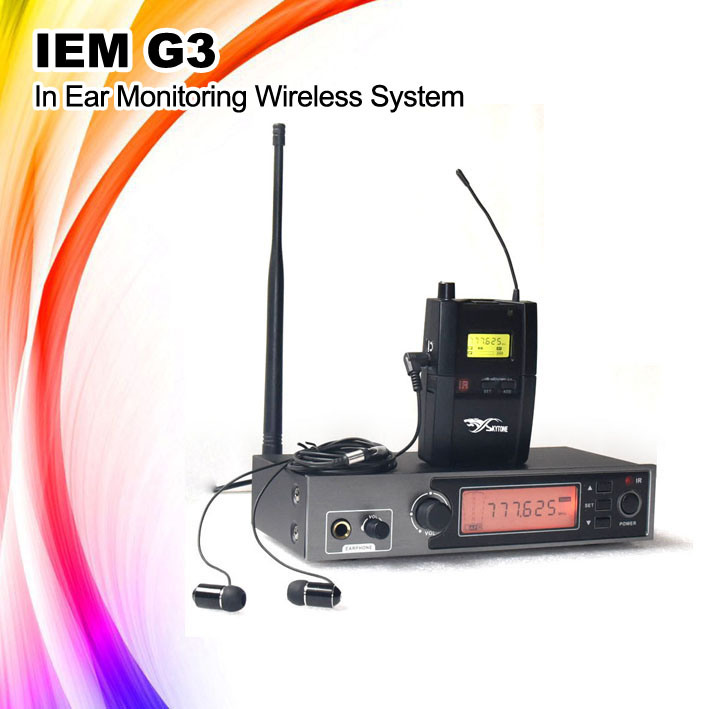 Iem G3 UHF in Ear Stereo Monitoring Wireless System Wireless Microphone