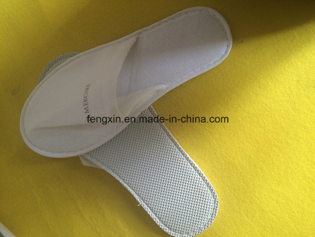 High Quality Color-Bound White Disposable Hotel Slipper