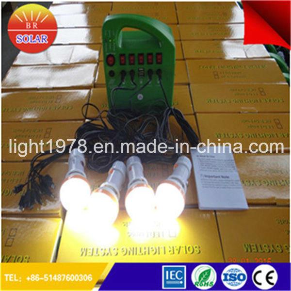 30W Portable Solar System with LED Bulb