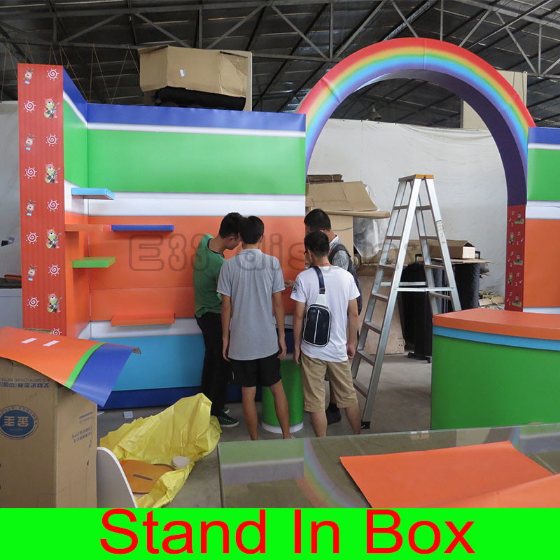 Custom Design Special Portable Modular Luxury Trade Fair Exhibition Stand