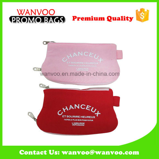 Promotional Candy Color Cosmetic Kid Wallet PU Pouches