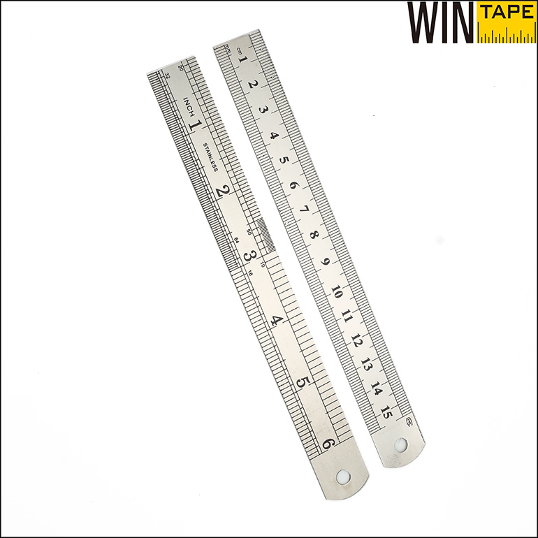Personalised Measuring Tool Inches Millimeter Scale Stainless Steel Ruler