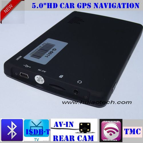 "2016 New 5.0"" Car Portable GPS Navigation Device Support New Navitel Map and New Igo Map"