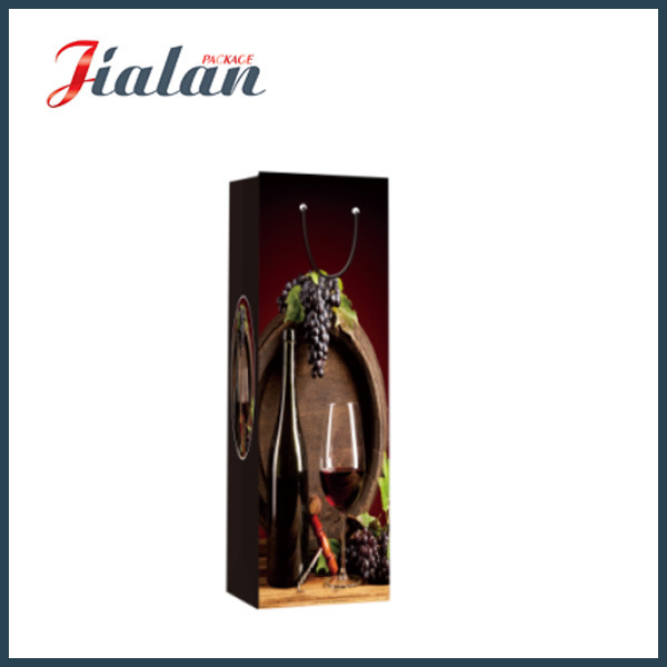 Wholesale Cheap Custom Printed Wine Bottle Shopping Gift Paper Bags