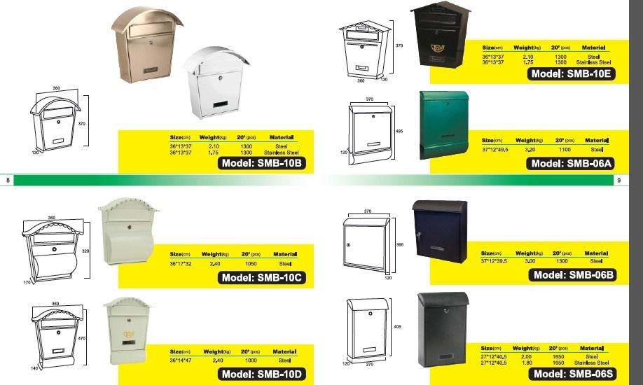 Die Casting Aluminum Mailbox Letterbox