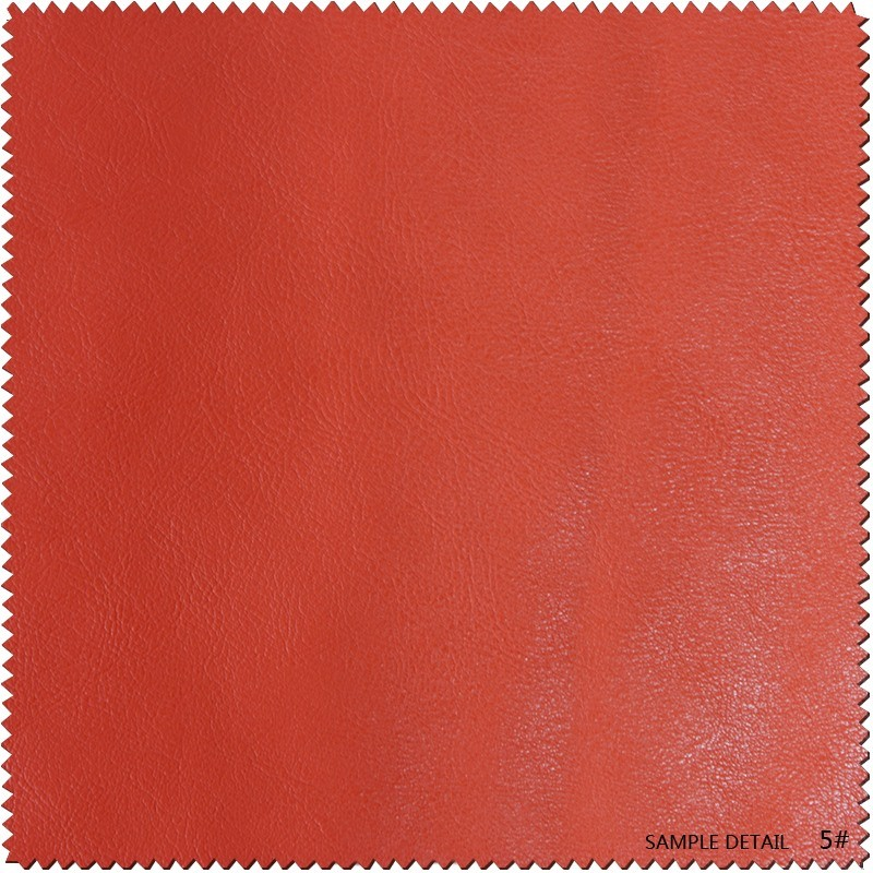 Embossed Printing Thick PU Furniture Bonded Faux Leather for Shoes, Bag (S019)