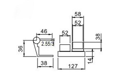 High Quality Hinge Hl6001A for Aluminum Door & Window