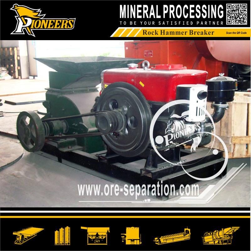 Mining Hitting Rock Hammer Crushing Machinery Diesel Sand Ore Breaker