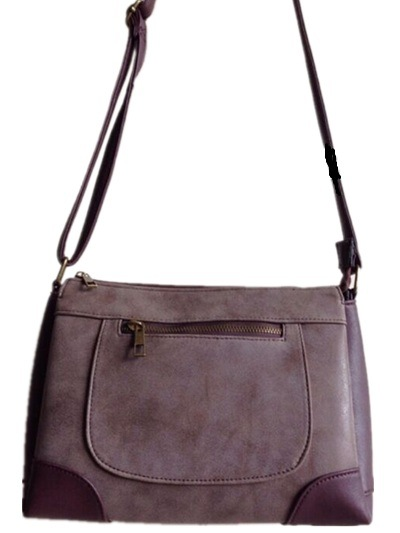Guangzhou Suppliers Designer Women Faux Leather Crossbody Bag (A-0027)