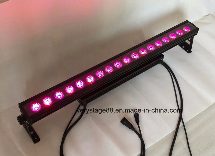 Waterproof 18X15W RGBWA UV 6in1 LED Wall Washer Stage Lighting