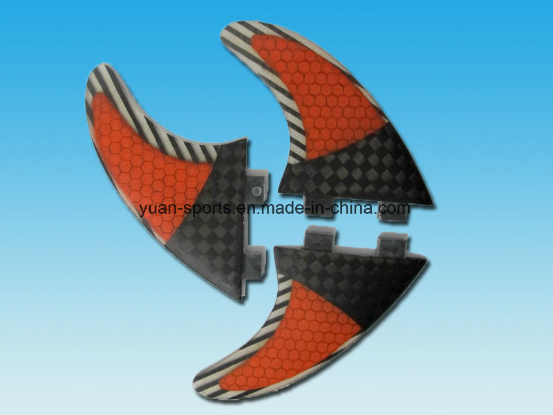 Half Carbon Honeycomb Glassfiber Fcs Surf Fin for Surfboard