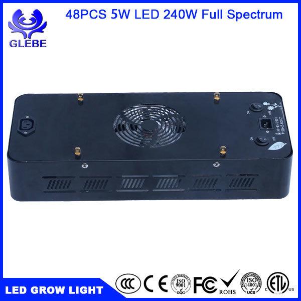 LED Grow Light Bulb, Lampat Grow Plant Light for Hydropoics Greenhouse Organic 240W 3-Band
