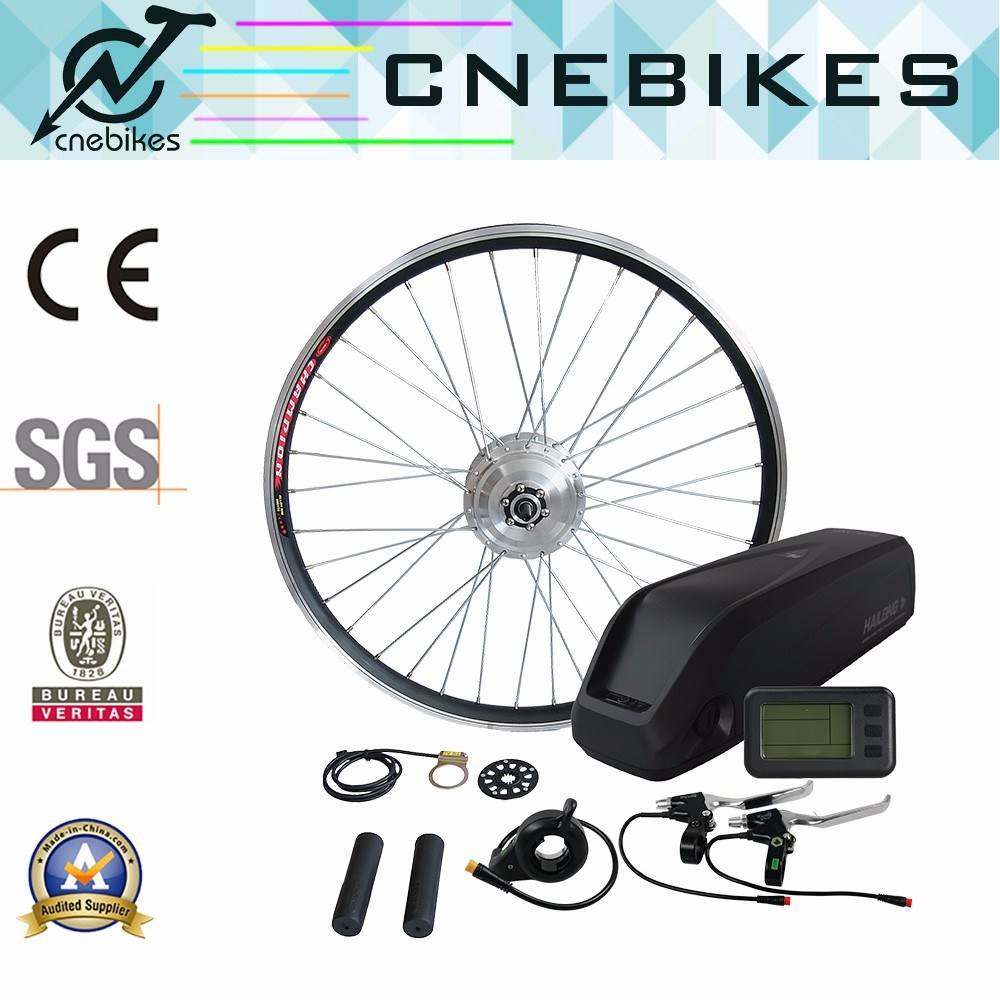 Waterproof Electric Bike Hub Motor Kit 36V 250W with Battery, LCD Display
