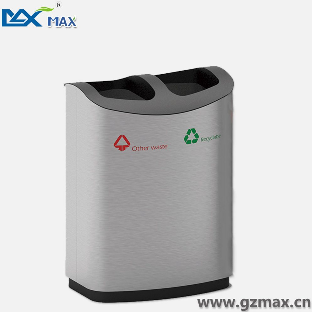 Stainless Steel Airtight Trash Can, Classified Garbage Bin