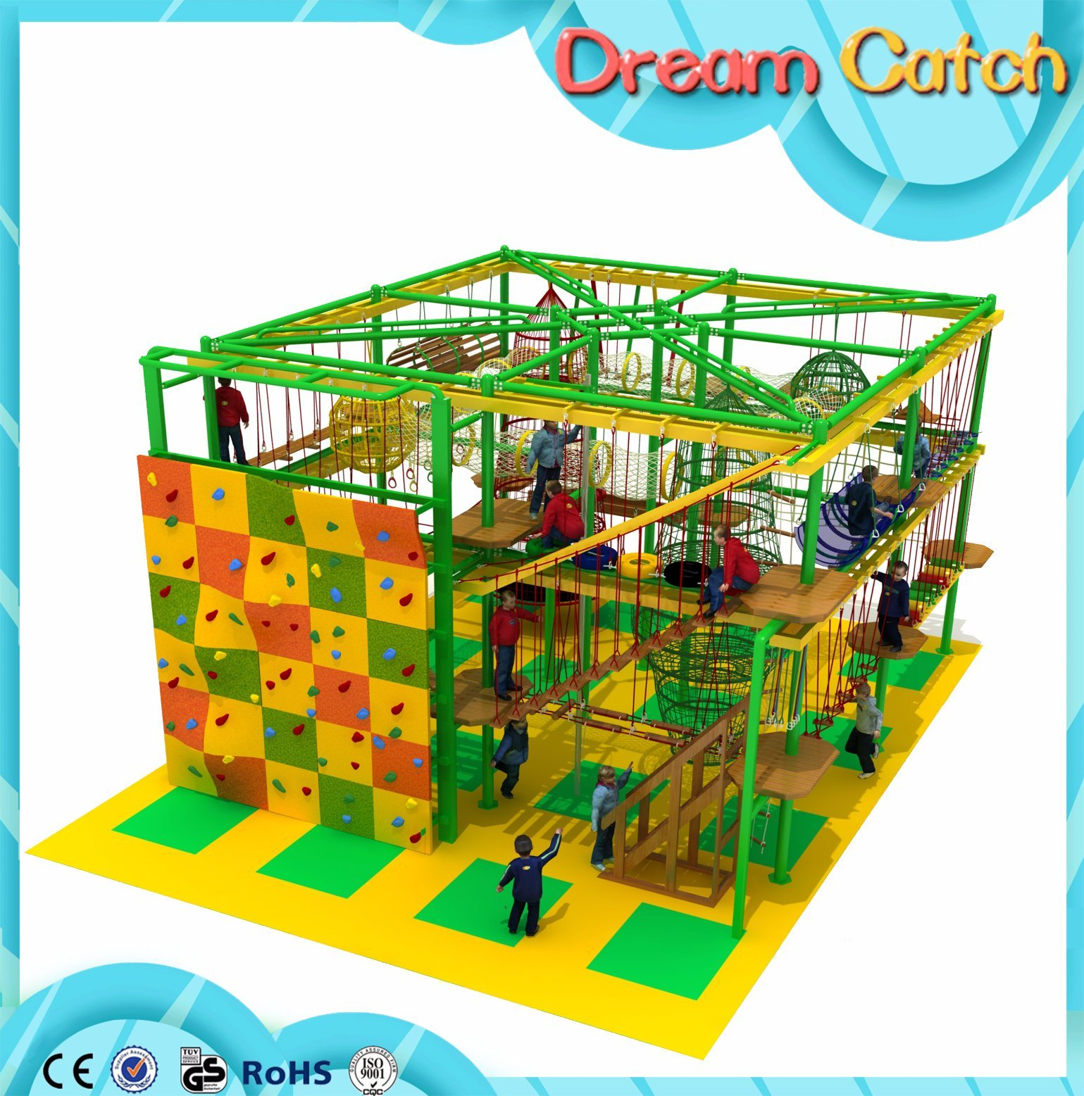 Bearing Capacity Climbing Adventure Equipment/Indoor Low Ropes Course