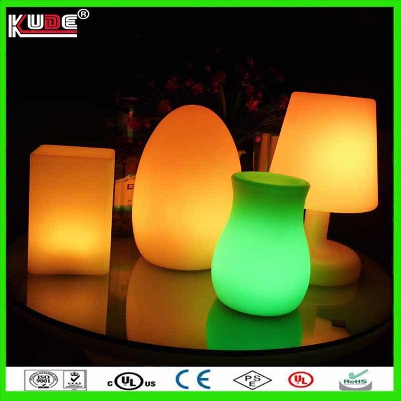 Battery Power LED Table Lamp Square Dinner Lamp