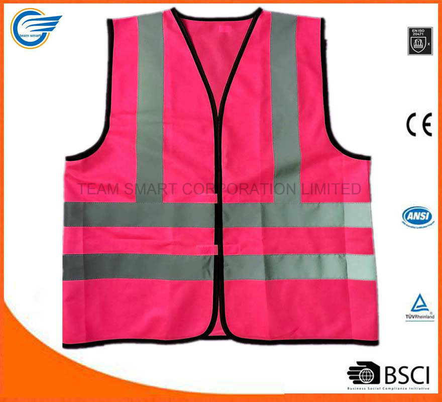 Fluorescent Workwear Warning Vest Traffic Vest with En20471