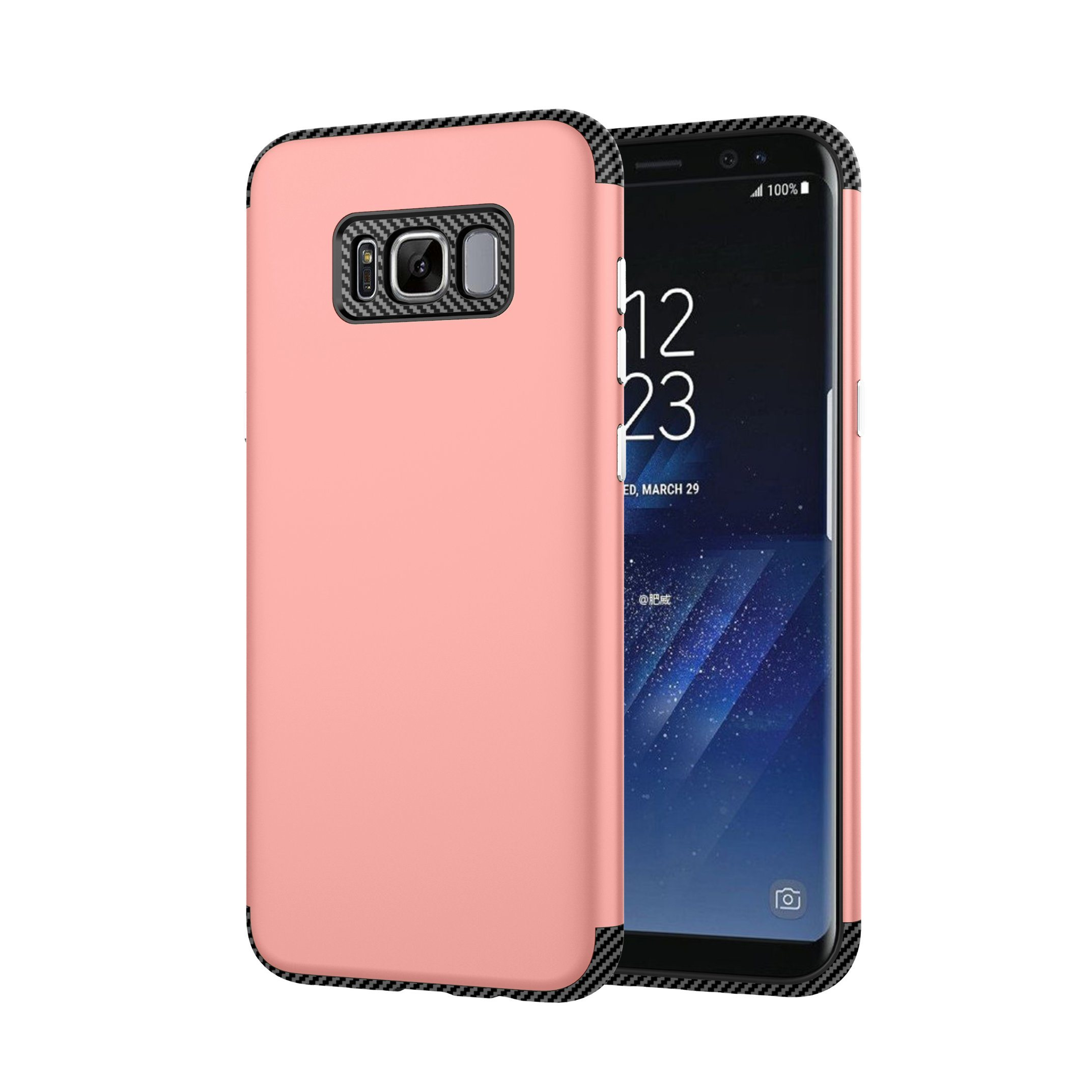 Samsung S8 Plus TPU+PC 2 In1 Carbon Fiber Phone Case