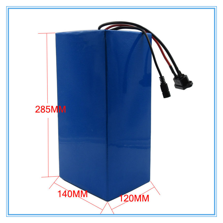 Rechargeable 72V Ebike Battery 2000W 72V 20ah Lithium Battery Use 3.7V 5ah 26650 Cell 30A BMS 2A Charger Best Package