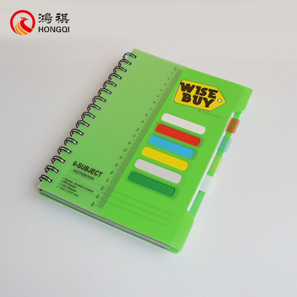 Green PP Cover Spiral Notebook