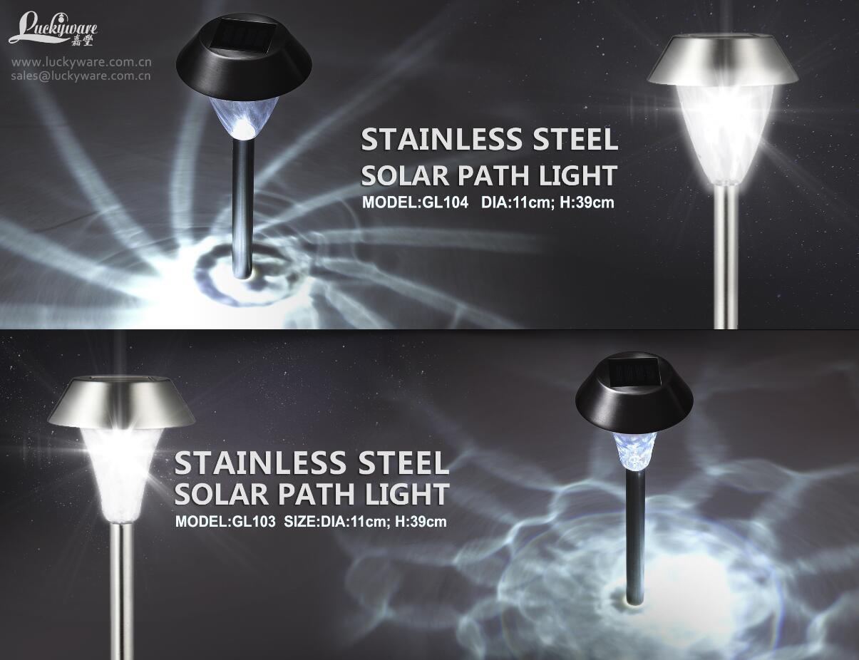 Solar Stainless Steel Path Light Garden Light
