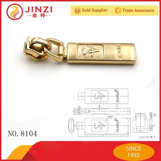 Nylon Head Metal Zipper Puller for Bag or Garment