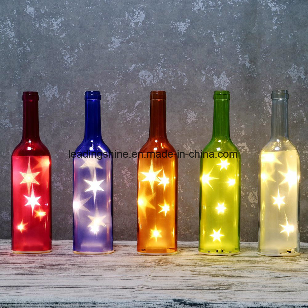 10 Red Heart LED Micro Fairy String Light Bottle for Valentine′s Day Lovers Gifts