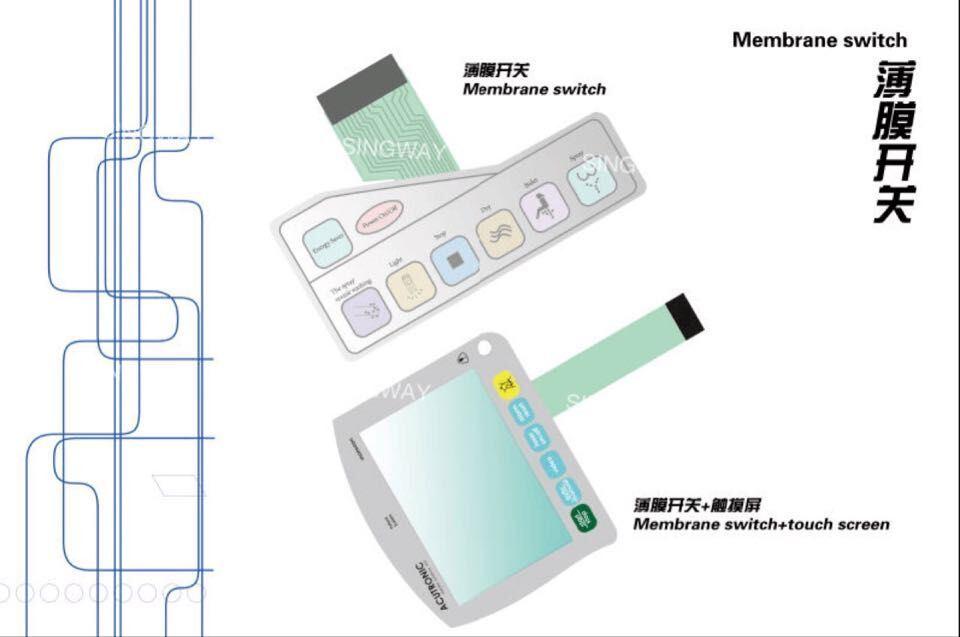 Anti-Glare Membrane Switch with PCB Board