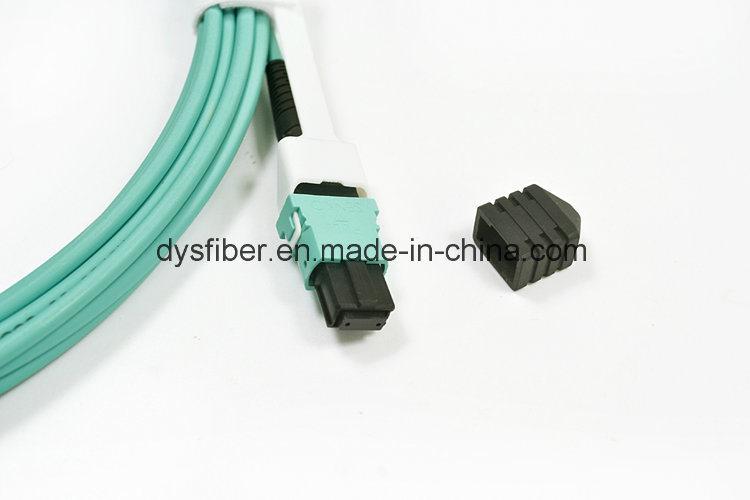 Fiber Optic Patch Cord Om3 Aqua MPO/MTP 8/12/24 Core Trunk Multicore Fiber Optic Jumper