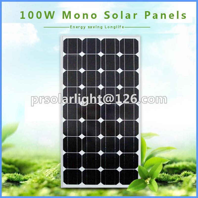 100W High Efficiency Mono Renewable Energy Saving PV Module
