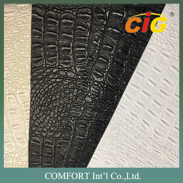 PVC Synthetic Embossing Furniture Leather