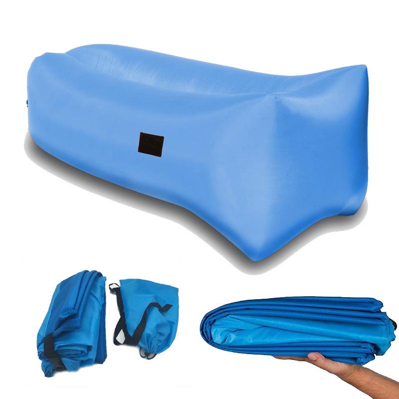 Outdoor Nylon Fabric Inflatable Hangout Portable Air Bag Sofa Lounger