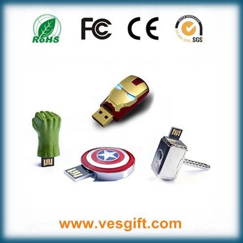Cartoon Hero Captain America USB Stick Promotional Gift