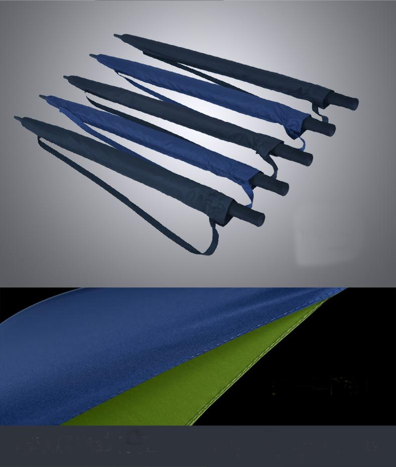 High Quality Big Size Straight Golf Umbrella Fiberglass Windproof Auto Umbrella