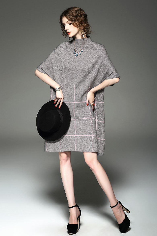 Customization High Quality Women Winter Reversible Oversized Blanket Poncho Cape Shawl Cardigans