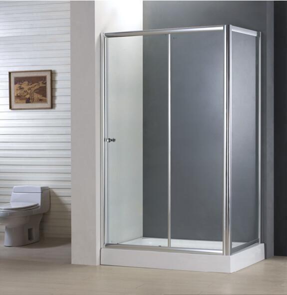 Bathroom Best Price Economy 4/5mm Sliding Door Shower Enclosure with Side Panel