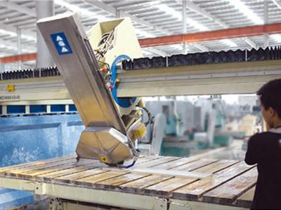 Stone CNC Bridge Cutting Machine for Sawing Granite Tile/Slabs