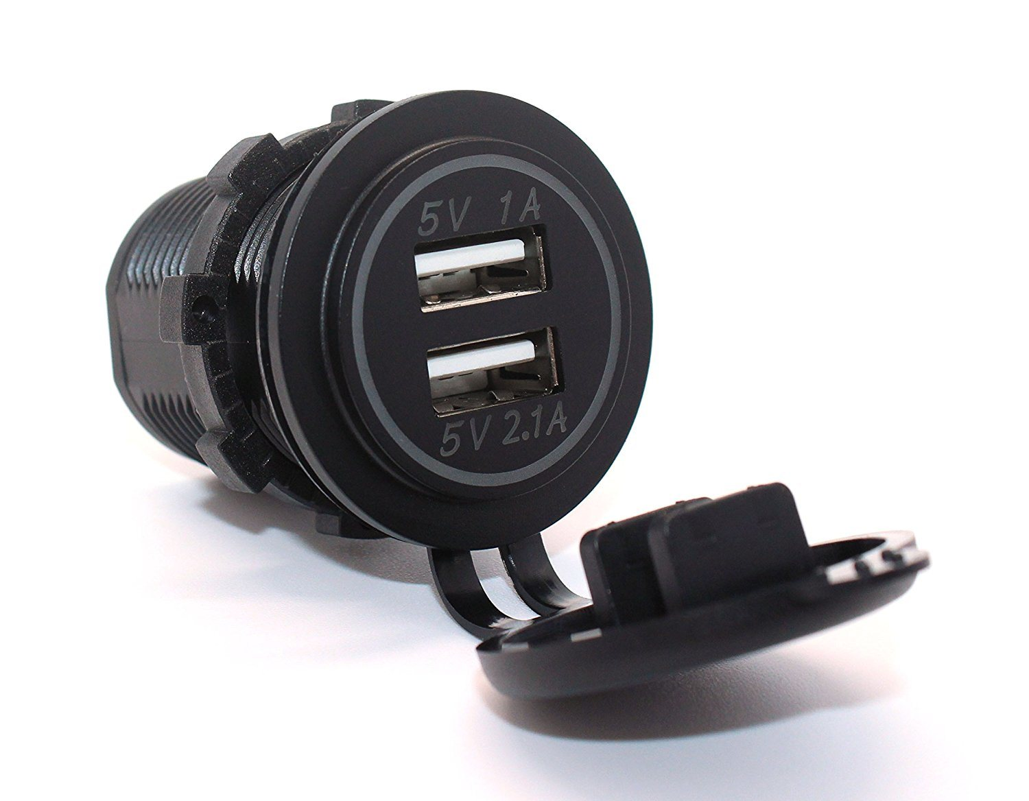 Universal Car Charger USB Vehicle DC12V-32V Waterproof Dual USB Charger 2 Port Power Socket 5V 2.1A/1A High Quality