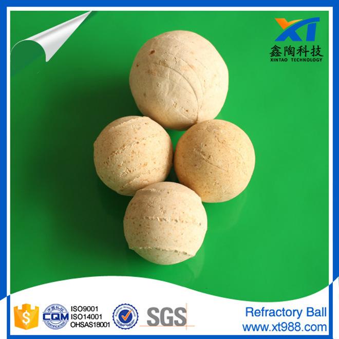 65% Alumina Ceramic Refractory Ball for Rto