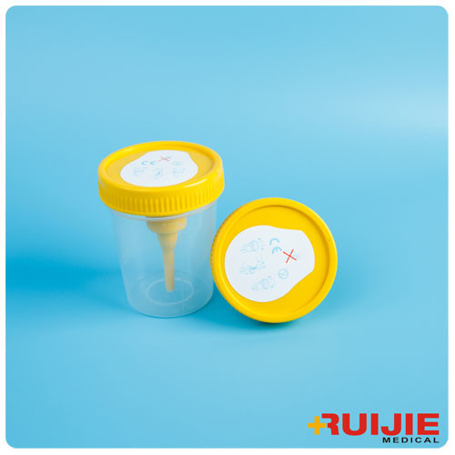 Disposable Plastic 100ml Urine Cup Containe with Needle