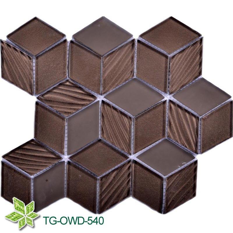 Linear Glass Mosaic Tile (TG-OWD-540)