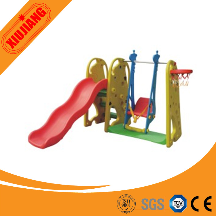 Children Outdoor Plastic Slide and Swing Play Set